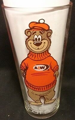 Vintage A&W The Great Root Bear Glass 6 glasses