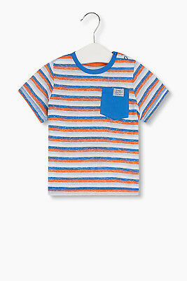 NEW Esprit Kids Striped T-shirt ANTHRACITE