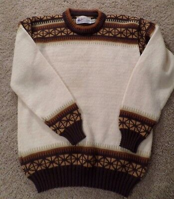 """Vintage 1950-60 100% Norway Wool Ski sweater, """"Sports Imp"""" by Sports Imports, NY"""