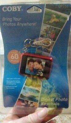 """Coby DP-151 1.5"""" Digital Picture Keychain New & Sealed"""