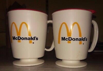 Lot of 2 vintage McDonald's Travel Coffee mug - Trip-Sip unused