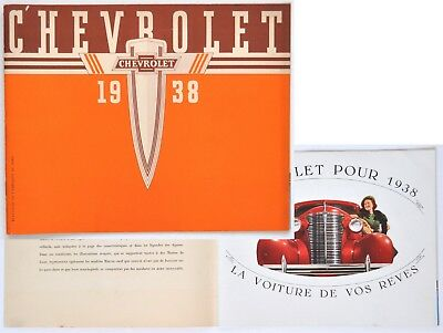 CHEVROLET CATALOGUE 1938 d'époque MASTER de LUXE 16 pages en FRANCAIS