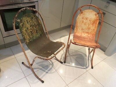 A Pair of Rare Vintage Stak A Bye Chairs x2