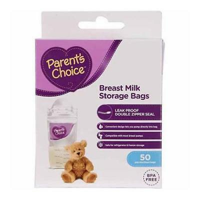 Parent's Choice Breast Milk Storage Bags, 50 Count