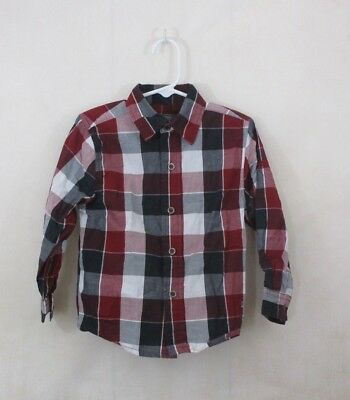 Kenneth Cole Toddler Shirt Size 3T Plaid Button Down Long Sleeve Dress Top