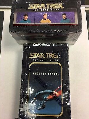 1996 Fleer Star Trek Original CCG Starter & Booster Box Factory Sealed Unopened