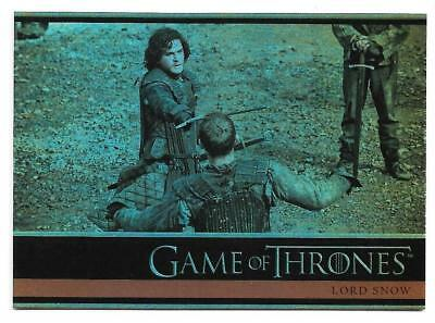 2012 Game of Thrones Season 1 Foil Parallel Card # 8 Lord Snow