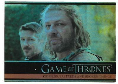 2012 Game of Thrones Season 1 Foil Parallel Card #11 Cripples Bastards and Broke