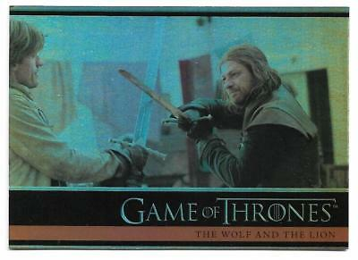 2012 Game of Thrones Season 1 Foil Parallel Card #15 The Wolf and The Lion