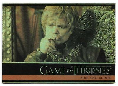 2012 Game of Thrones Season 1 Foil Parallel Card #29 Fire and Blood