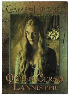 2012 Game of Thrones Season 1 Foil Parallel Card #52 Queen Cersei Lannister