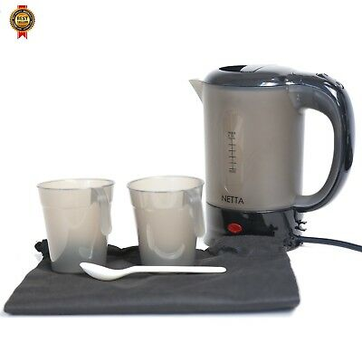 1000W Electric Portable Dual Voltage Travel Jug Kettle 0.5L with 2 Cups NEW