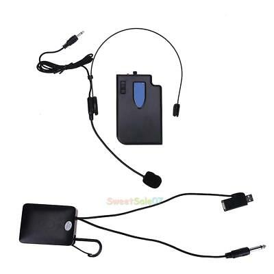 Wireless Guide Lecture Teaching Headset Microphone + 3.5mm / 6.5mm Plug Receiver