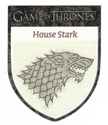 """2012 Game of Thrones Season 1 The Houses H2 House Stark """"Winter is Coming"""""""