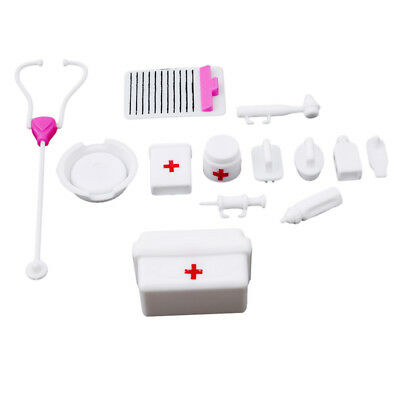 14PCS Medical Kit Equipment Stethoscop Doctor Nurse Pretend Play Time Kids Toy