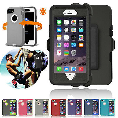 For Apple iPhone 8 Plus X XS Max Heavy Duty Shockproof Hard Defender Case Cover