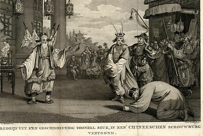 Chinese dance ceremony China traditional costume dress 1799 Allart old rare view