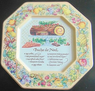 Avon Vintage1982 Tin Plate With Christmas Sweets Recipe, Made In England