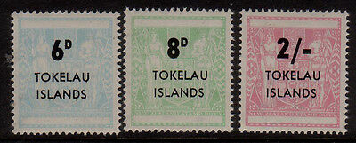 Tokelau 1966 Arms surcharge MNH set 3 stamps