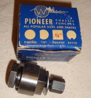 "Pioneer 3/4"" SQUARE Radio Chassis Punch CS 75"