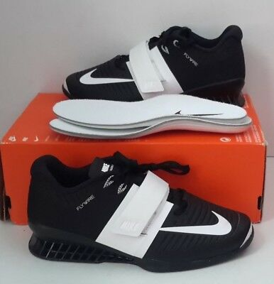 Women s NIKE ROMALEOS 3 WEIGHTLIFTING SHOES 878557 001 BLACK WHITE SZ 14 NEW 5c72bb6a6