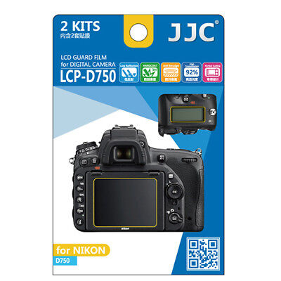 2 x LCD Screen Protector Guard 2pc Top & Back for Nikon D750 DSLR camera