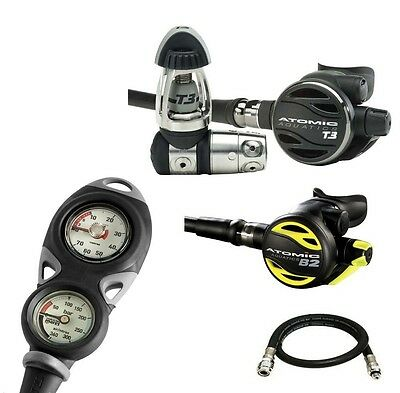 Atomic T3 Regulator B2 Octopus Mares Mission 2 with Free Jacket Hose Yoke - AU