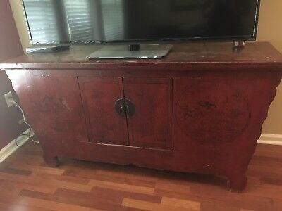 Antique Chinese Asian Buffet Sideboard Credenza Cabinet
