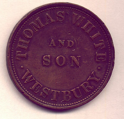 1857 THOMAS WHITE: TASMANIAN TOKEN in GREAT CONDITION   LOW  RESERVE