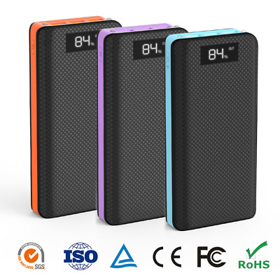 External 300000mAh Power Bank Pack Portable 3USB Battery Charger Fr Mobile Phone