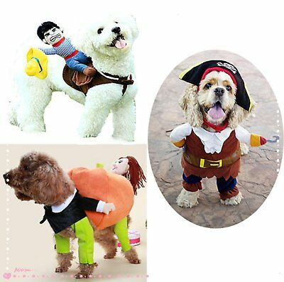 Pet Dog Cat Costume Funny Outfit Jumpsuit Clothes for Halloween Christmas Winter