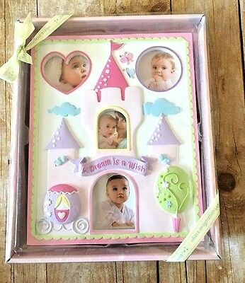 NEW DISNEY Baby Girls Picture Frame Princess Castle Pink Photo Room Decor Gift