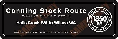 Canning Stock Route Version 2 Bumper Sticker