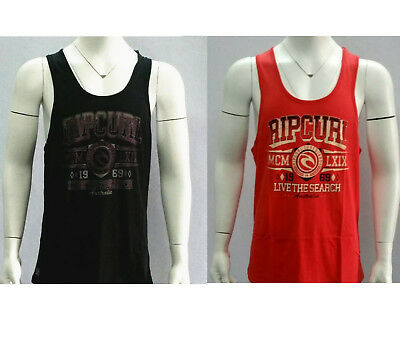 Rip Curl Men's Muscle Tank Crew Neck Sports Tee Singlet Casual Tops Size S-XXL