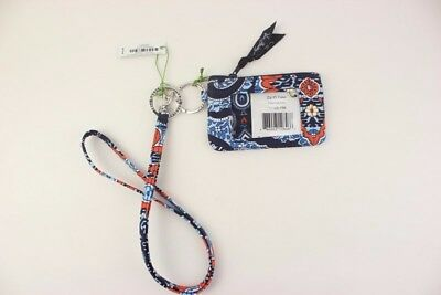 New with tags Vera Bradley Zip ID Case and Lanyard in Marrakesh