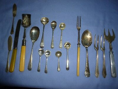 Job Lot  Vintage Collectable Cutlery Silver Plated Pickle Forks Mustard Spoons