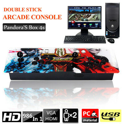 2017 Metal Pandora's Box 986 In 1 Video Games HD 4s Home Arcade Machine Joystick