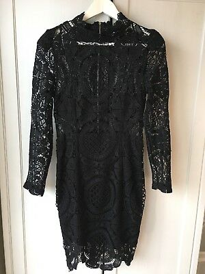 Long Sleeve Black Lace Dress 10