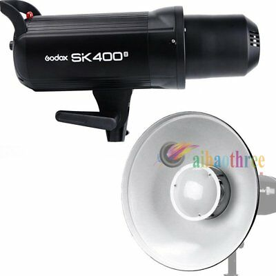 Godox SK400II 400W 2.4G Wireless Studio Flash Strobe Light Head + Beauty Dish【AU