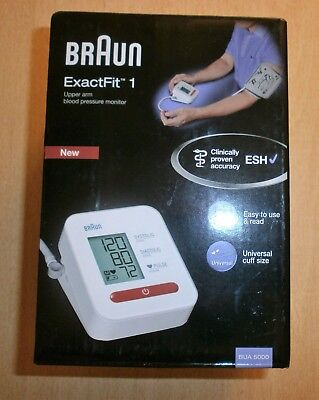 Braun ExactFit 1 BUA5000 Automatic Upper Arm Blood Pressure Monitor BNIB SEALED