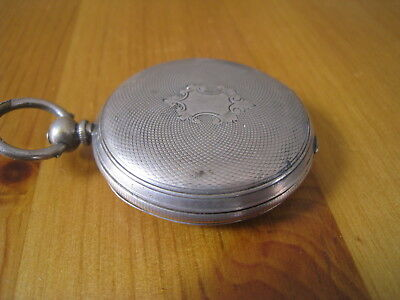 Vintage Silver Cased Hunter Pocket Watch