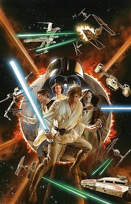 "Set Of 4 Alex Ross Star Wars 7"" x 5"" Animation Photo Prints Han Solo Darth Vader"
