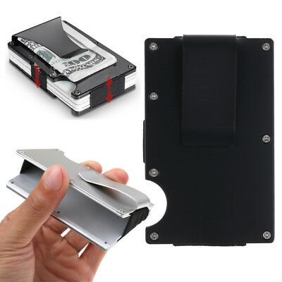 Pocket Man's Slim Stainless Steel Credit Card Holder Case Box Money Clip Wallet