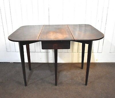 Antique Georgian drop leaf fold out pembroke side occaional table