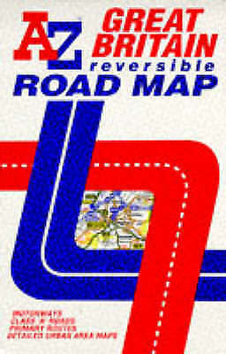 AZ Reversible Road Map of Great Britain, Geographers' A-Z Map Co. Ltd., Very Goo