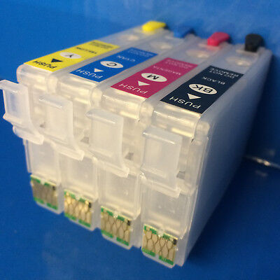 4 REFILLABLE Empty Ink Cartridges FOR Epson Expression Home XP435 XP442 XP445 29