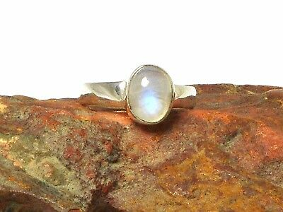 Oval  MOONSTONE Sterling Silver 925 Gemstone RING
