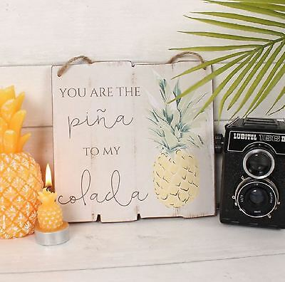 Tropical Cocktail Wooden Hanging Sign Plaque Sentiment Chic Home Gift Decoration