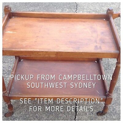 Vintage Bar, Drinks Or Tea Trolley Can Be Used As Is Or Upcycle