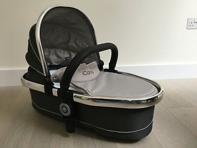 iCandy Peach Blossom Twin Carrycot Truffle (barely used - practically new)